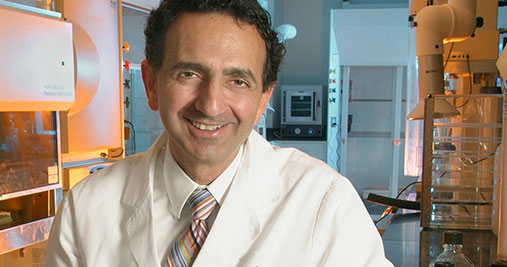 Anthony Atala, M.D., Director of the Wake Forest Institute for Regenerative Medicine, in lab