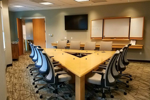 Meeting Spaces North Carolina Biotechnology Center - Triangle conference table