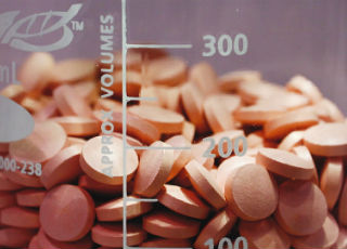 Sample Tablets in Beaker