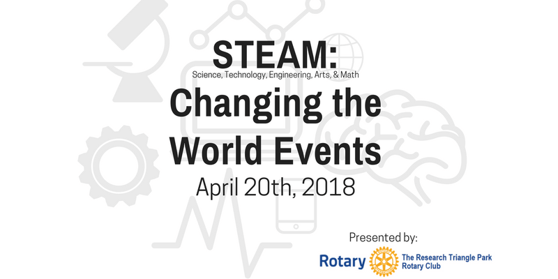 RTP Rotary Club STEAM Changing the World Events logo