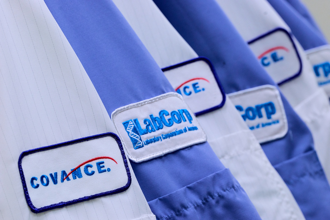 Covance and LabCorp lab coats