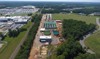 Gibbs wastewater facility in Johnston County