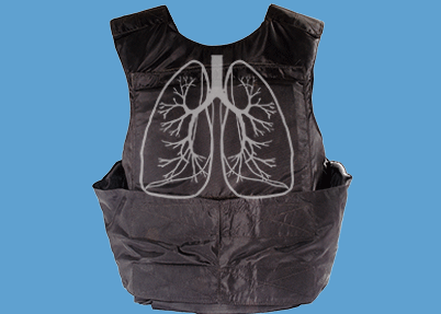 Lung illustration on protective vest
