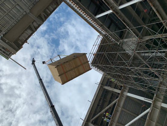 DPR Construction Crane Lifts Growth Chamber