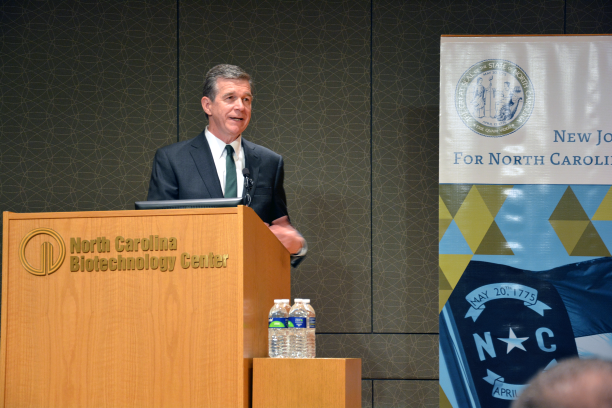 Governor Cooper speaks at NCBiotech