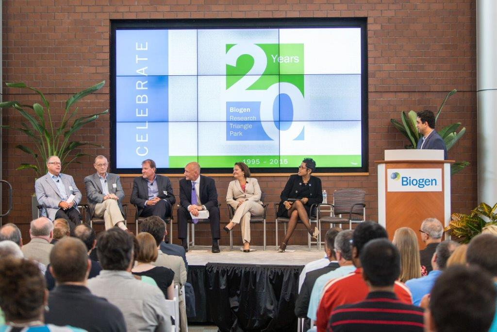 A Bell-Ringing 20th for Biogen | North Carolina Biotechnology Center
