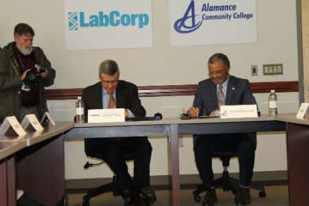 LabCorp gift contract signing