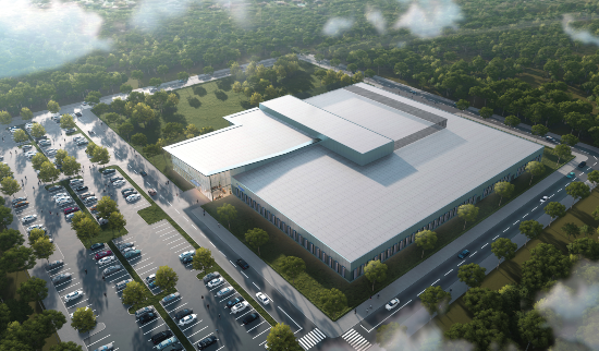 Artist's rendering of Biogen's new gene therapy facility in RTP.