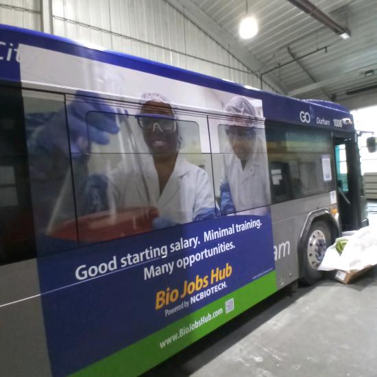 Durham bus wrap