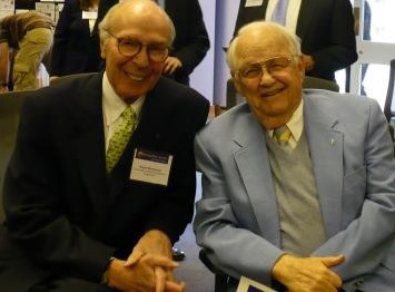 Jack Hunt (right) with Stuart Bondurant, both longtime supporters of life sciences in North Carolina