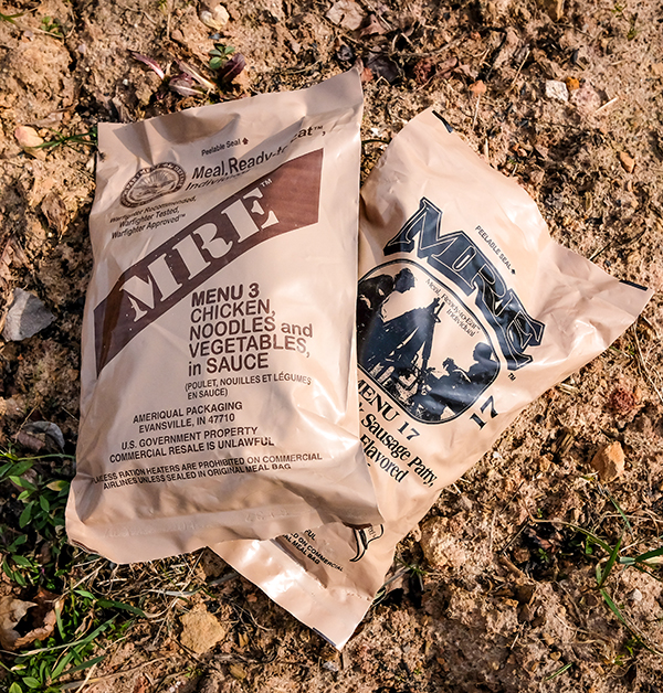 MRE military meals. -- Shutterstock