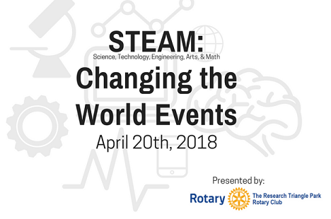 RTP Rotary Club - STEAM Changing the World Events logo