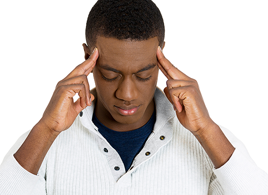 Headache image from Shutterstock